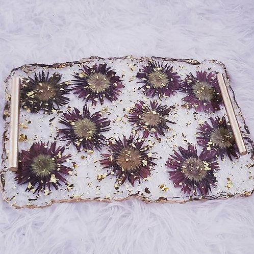 Flower Resin Tray
