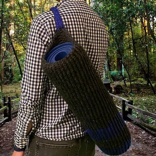 Blue Grey Yoga Mat Bag