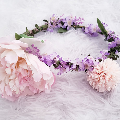 Pink Lilac Flower Crown