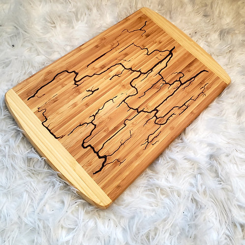 Resin Lichtenberg  Cutting Board