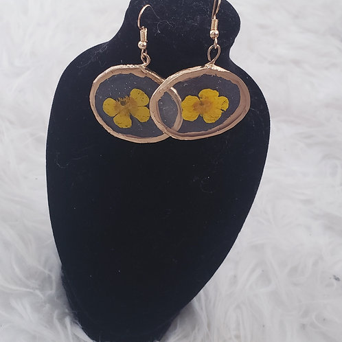 Resin Flower Hoops