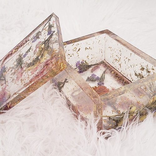 Flower Resin Box