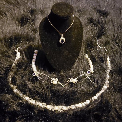 Bride Crown & Necklace Set