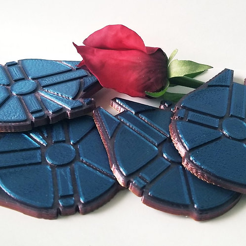 Purple Millennium Falcon Coasters