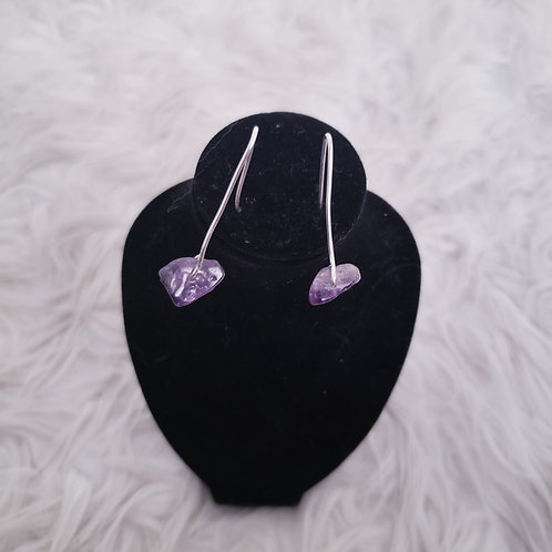 Lilac Wire Wrap Earrings