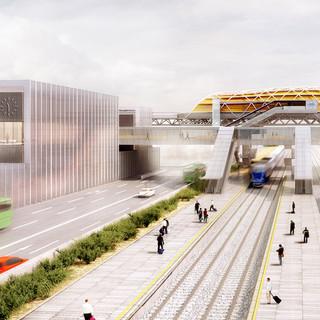 INTERCAMBIADOR DE TRANSPORTES DE AIN NADJA GARE  Situación: Argel, Argelia. Superficie: 65.000 m² Colaboración.