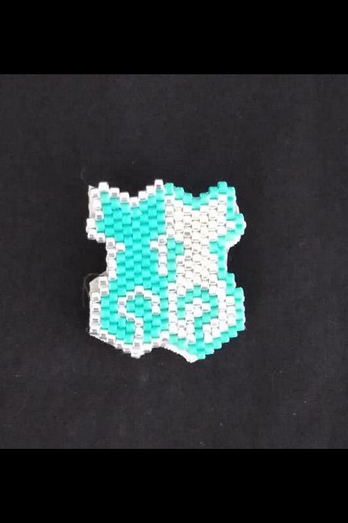 Chats turquoise argenté