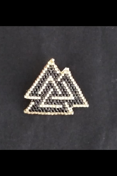 3 triangles noie et or