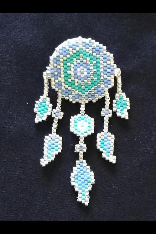Attrape rêve turquoise