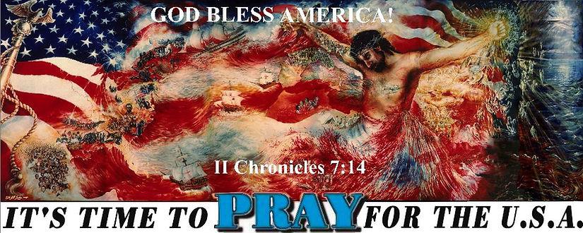 PRAY FOR USA God Bless America  II CHRON