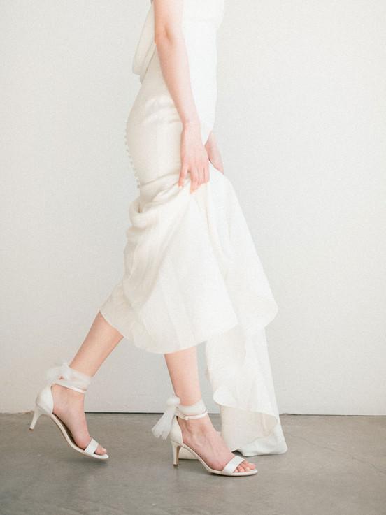 Bridal shoe detail