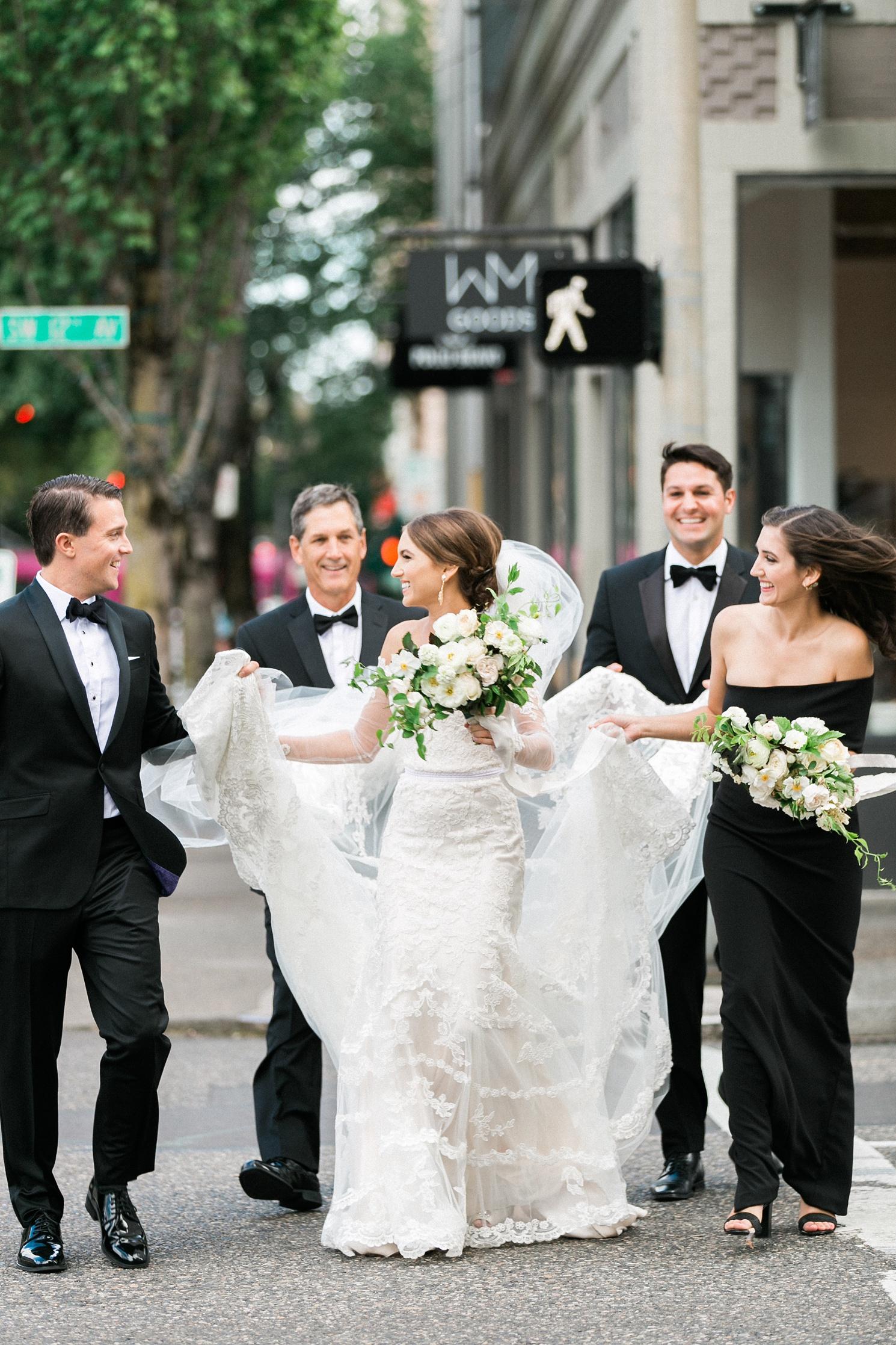 Cityscape Bridal Party