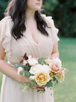 Blush Bridesmaid Fall Wedding