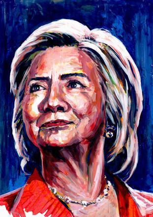 Hillary Clinton by Alex Stutchbury