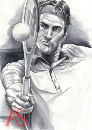 Roger Federer by Alex Stutchbury