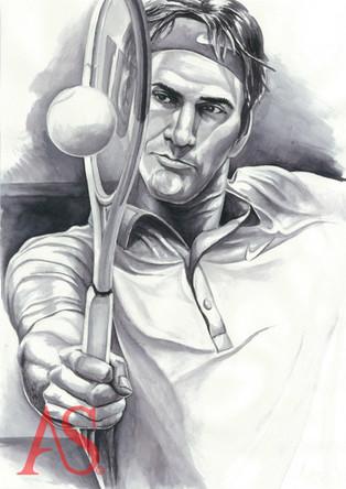 Roger Federer by Alex Stutchbury
