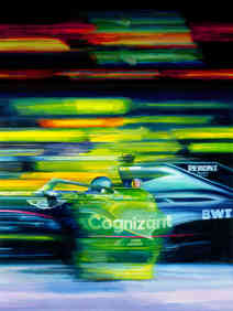 Lance Stroll 2021 Aston Martin by Alex Stutchbury