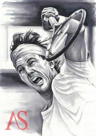 Rafael Nadal by Alex Stutchbury