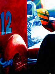 Aryton Senna | 1988 F1 World Champion by Alex Stutchbury