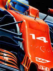 Fernando Alonso by Alex Stutchbury