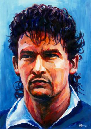 Roberto Baggio Italy by Alex Stutchbury