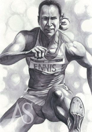 Jessica Ennis by Alex Stutchbury