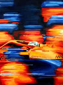 Daniel Ricciardo | McLaren MCL35M by Alex Stutchbury