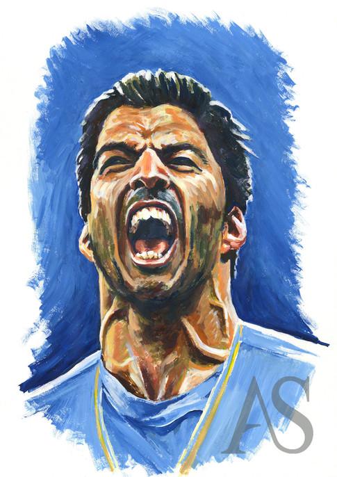 Luis Suarez by Alex Stutchbury