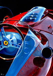 Ferrari Dino 246 F1 by Alex Stutchbury