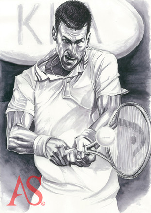 Novak Djokovic by Alex Stutchbury