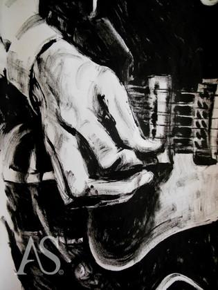 Harrison on Gretsch Tennessean by Alex Stutchbury
