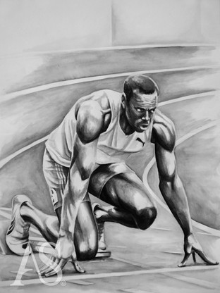 Usain Bolt by Alex Stutchbury