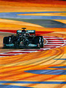 Lewis Hamilton 2021 Bahrain GP Winner