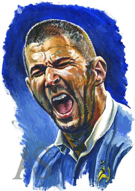 Karim Benzema by Alex Stutchbury
