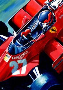 Ferrari 126CK by Alex Stutchbury