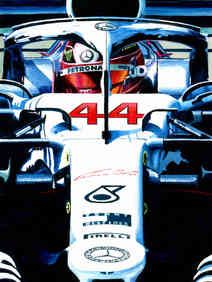 Lewis Hamilton | 2019 German GP by Alex Stutchbury