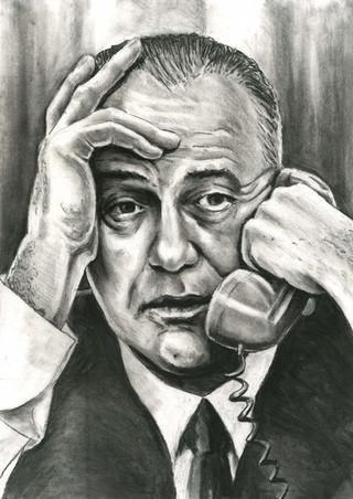 Lyndon B. Johnson by Alex Stutchbury