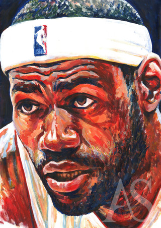 LeBron James by Alex Stutchbury