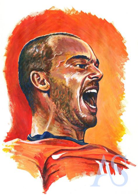 Wesley Sneijder by Alex Stutchbury