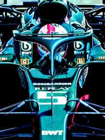 Sebastian Vettel | Aston Martin AMR1 by Alex Stutchbury