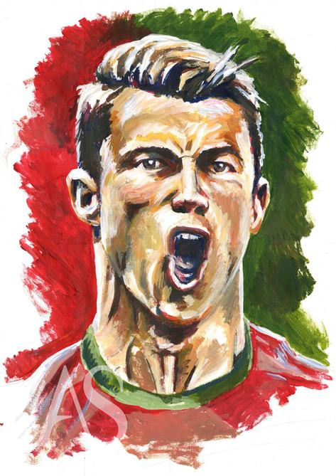 Cristiano Ronaldo by Alex Stutchbury
