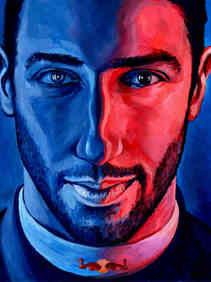 Daniel Ricciardo by Alex Stutchbury