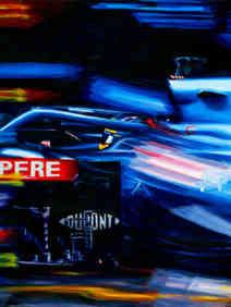Fernando Alonso Alpine A521 2021 Hungarian GP by Alex Stutchbury