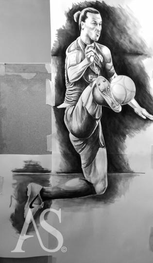 Zlatan Ibrahimovic by Alex Stutchbury