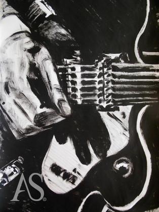 Harrison on Gretsch Duo Jet by Alex Stutchbury