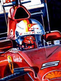 Sebastian Vettel by Alex Stutchbury