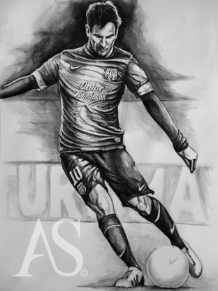 Lionel Messi by Alex Stutchbury