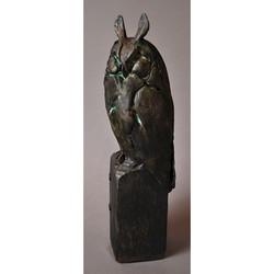 LONG EARED OWL IN BRONZE