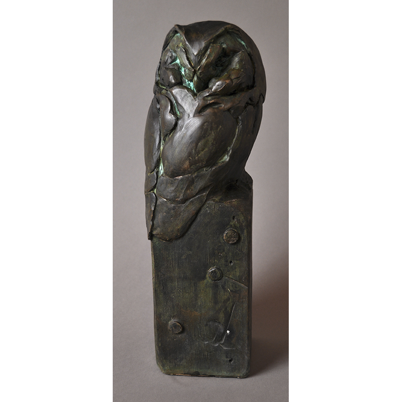 BOREAL OWL IN BRONZE