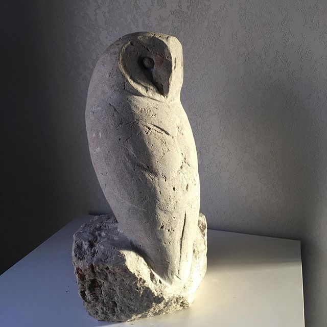SOLD, Barn Owl in Limestone